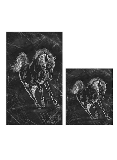 Soley Horse Djt. 2 Li Banyo Paspas Seti Klozet Takımı Renkli